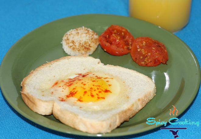 Breakfast recipe with egg picture