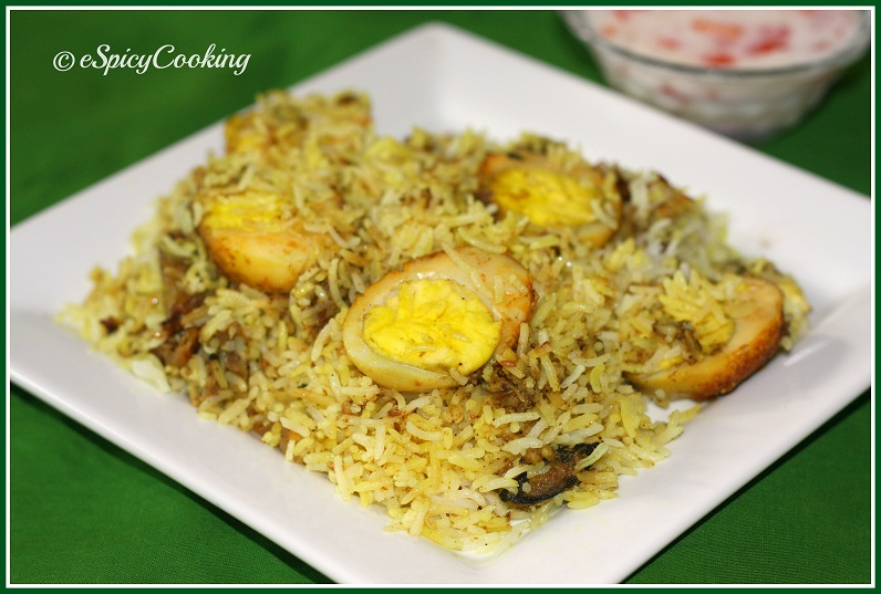How to make easy egg biryani at home
