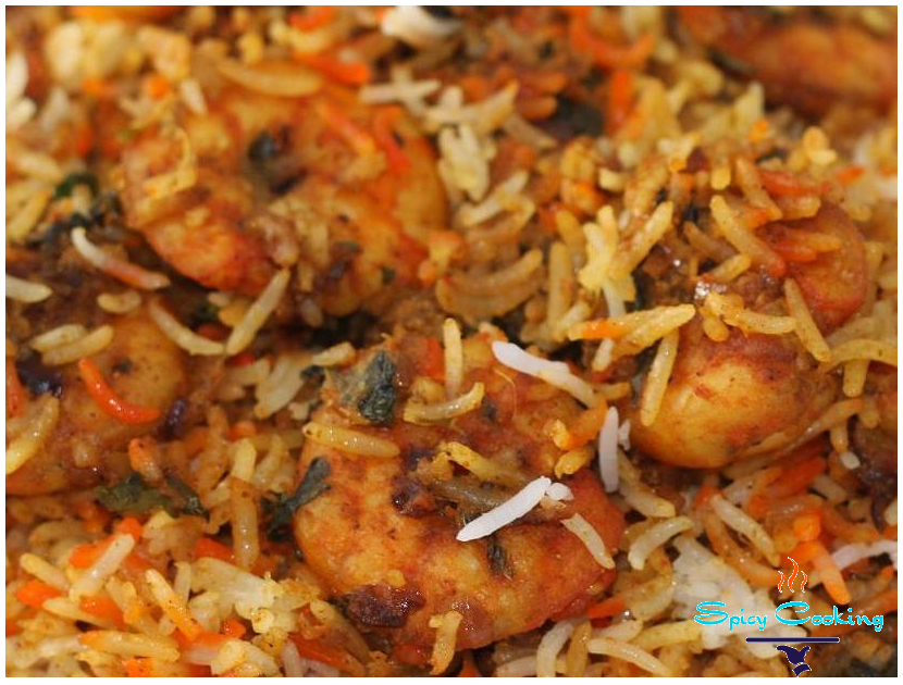 shrimp biryani picture